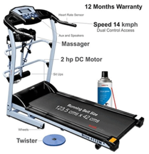 Healthgenie 7 in 1 Treadmill for Home Use