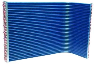 Blue fin condenser in Air Conditioner