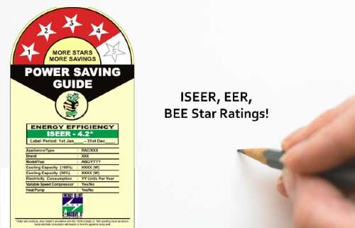 BEE Star Ratings of an Air Conditioner India