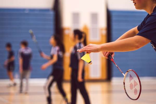 Badminton Racket - People Playing Indoor Game