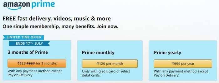 amazon prime membership india
